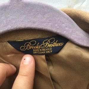Brooks Brothers Jackets & Coats - 100% Camel Hair Tan Fitted Blazer 44R
